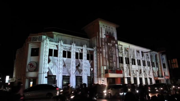 Uneven Structure Jogja Video Mapping Festival